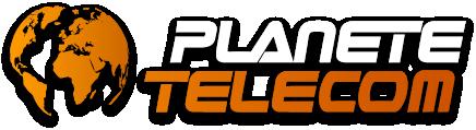 Logo planète télécom relief